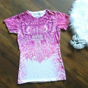 Pink ombre Sinful Tee